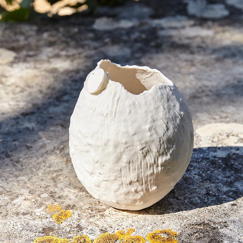 petit vase porcelaine papier